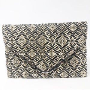 BCBGeneration | Black and Tan Envelope Clutch NWT